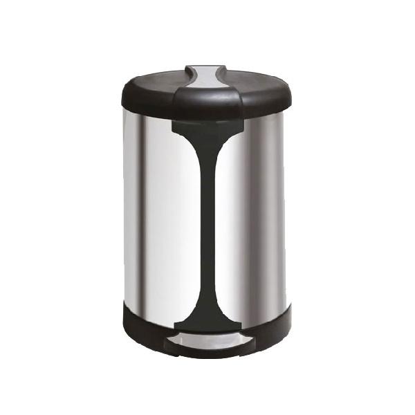 سطل زباله آشپزخانه استیل ۲۰ لیتری