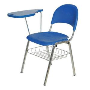 صندلی آموزشی لوله ای پایه U با جاکتابی کد 100D