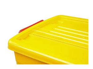 صندوق چرخدار زرد کد 207_5