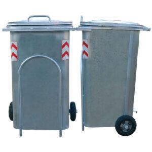 سطل زباله گالوانیزه 240 لیتری