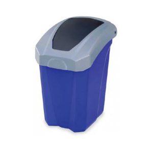 سطل زباله با درب بادبزنی