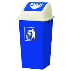 سطل زباله با درب بادبزنی (دمپری) 120 لیتری