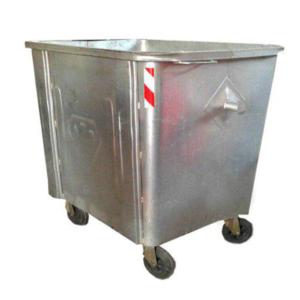 مخزن زباله گالوانیزه 770 لیتری چهارگوش با ورق 1.5 بدون درب