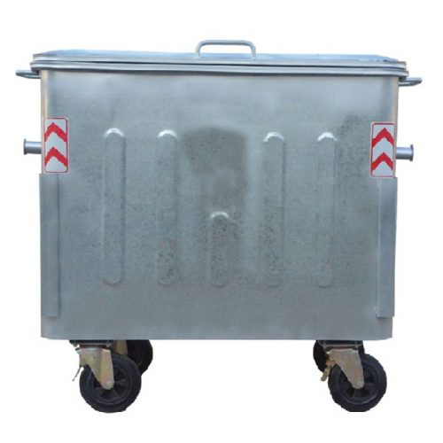 مخزن زباله گالوانیزه 770 لیتری چهارگوش با ورق 1.5 با درب فلزی