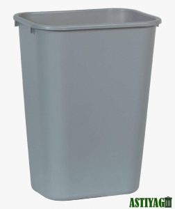Features of a plastic trash can